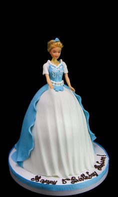 Cinderella Standing Doll cake #birthday #birthdaycake #cakes #cake #kids #kidsforcakes #cakeinspiration #custom #color #fun  #Disney #customcakes #Disneycakes #princess #princesscake #disneyprincess