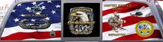 Army 101st Airborne Division Custom Rear Window Graphic Mural