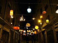 "Installation "" Under a diferent light"" by Beforelight.    Thessaloniki (Greece)"