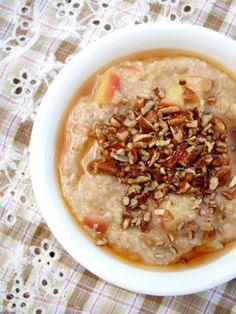 Salted Maple, Apple, and Pecan Oatmeal