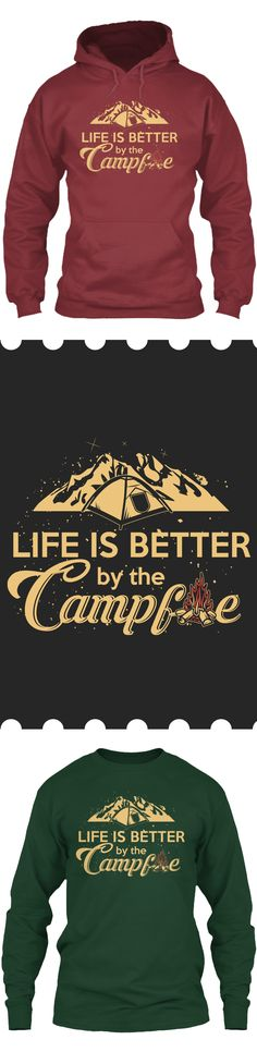 Life is better when Camping - Get this limited edition Long Sleeves and Hoodies just in time for the holidays! Click to buy now!