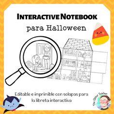 [INB] Casita con habitaciones HALLOWEEN EDITION Kindergarten, Glitter, Teacher, Chart, Flash, English, Blog, Ideas, Halloween Songs