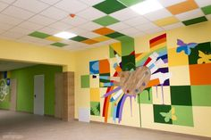Gymnasium No. frescoes appeared on the walls – Graffiti World School Art Projects, Art School, Projects To Try, Graffiti Murals, Mural Wall Art, School Design, Interior And Exterior, Iphone Wallpaper, Wall Decor