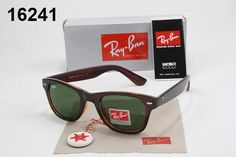 Prescription Ray Ban Sunglasses Ray-Ban Wayfarer Sunglasses Lens Green Frame Mixed