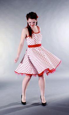 Rockabilly Polka Dot Swing Dress
