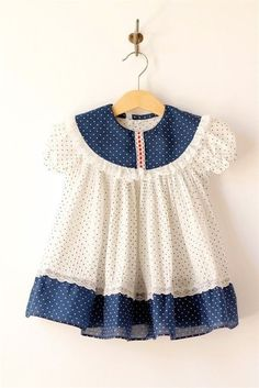 vintage baby blue and white pindot dress. Love this for my baby girl! Little Dresses, Little Girl Dresses, Cute Dresses, Girls Dresses, Dress Girl, Baby Girl Fashion, Kids Fashion, Toddler Dress, Girl Toddler