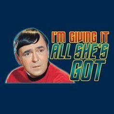 Star Trek Scotty I'm Giving Her Blue T-Shirt