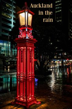 One of many in a photo essay highlighting the rain and how the colours of Auckland New Zealand reflect brightly in the wet pavement. via @Rhondaalbom