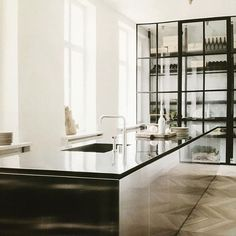 Love this mirrored kitchen island! And the cabinetry behind!! #architecture #homedesign #lifestyle #style #buildingdesign #landscapedesign #conceptdesign #interiors #decorating #interiordesign
