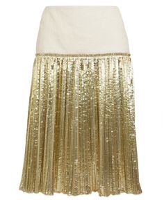 DRIES VAN NOTEN | Sardi Metallic Pleated Skirt | Browns fashion & designer clothes & clothing