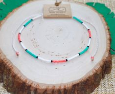 Your place to buy and sell all things handmade Beaded Chocker, Beaded Choker Necklace, Beaded Anklets, Seed Bead Necklace, Seed Bead Jewelry, Diy Necklace, Choker Jewelry, Washer Necklace, Chokers