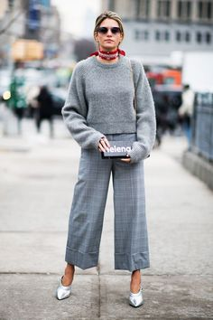 The Chicest Way to Wear Culottes in the Winter