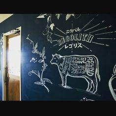 入口横のチョークアートです。ご来店の際は是非ご覧下さい。サニーコレクションさんありがとうございます(^^) #長井市 #チョークアート #ニクバルレゴリス#ステーキ#イタリアン#肉#ニクバル