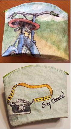 Painted kraft•tex™️ purse. So cool!