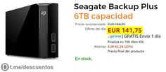 Seagate Backups PLUS 6TB disponible por 141 - http://ift.tt/2uIch0C