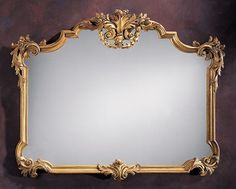 18th-Century Tuscan Style Carved Wood Mirror