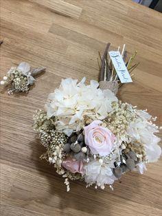 Bouquet romántico preservado.