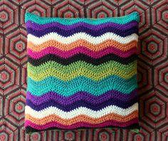 Ripple Cushion Cover, used Lucy's (Attic 24) great ripple pattern found at http://attic24.typepad.com/weblog/neat-ripple-pattern.html