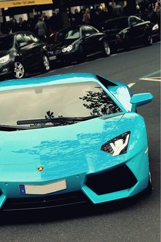 Tiffany blue #Lamborghini Aventador! See more 'pintastic' cool car pics this by clicking on the pic and signing up to carhoots today!