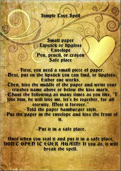 Wicca Love Spell, Wiccan Spell Book, Wiccan Witch, Witch Spell, Easy Love Spells, Powerful Love Spells, Witchcraft Love Spells, I Thought Of You Today, Every Witch Way