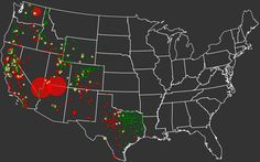 This graphic shows just how little water the West has left