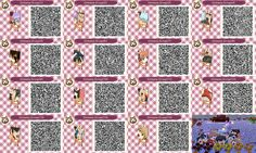Gintama characters mural Animal Crossing:New Leaf QR codes