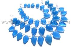 Christmas Sale Blue Chalcedony Smooth Arrow Quality AAA / #christmassale #bluechalcedonybeads