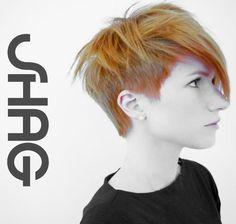 Short pixie haircut undercut shag
