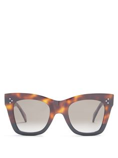 Click here to buy Céline Eyewear Catherine cat-eye acetate sunglasses at MATCHESFASHION.COM