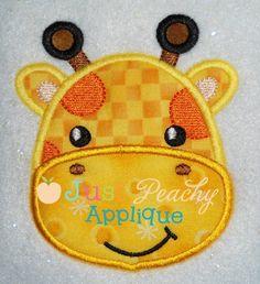 Giraffe Applique Design - Just Peachy Applique
