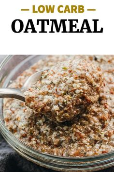 This is the best keto oatmeal substitute for low carb, gluten free, paleo, vegetarian, and vegan diets. Use the microwave or a saucepan on the stovetop, making this an easy no bake breakfast recipe. You can use water or almond milk, and variety of seeds or flours like hemp hearts, chia seeds, flaxseed, or almond flour.