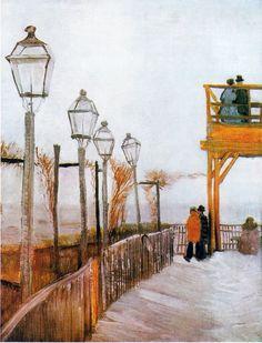 Belvédère à Montmartre 1886 Vincent Van Gogh