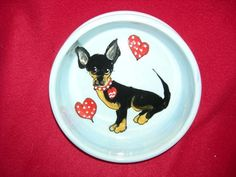 Client Order: Chihuahua Hearts Dog Bowl