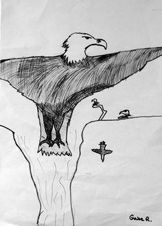 "Gabe's ""I'm gonna fly like an Eagle..."""