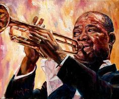 """""""Satchmo"""" Louie Armstrong by Merryl Jaye"""