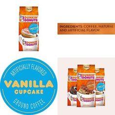 Dunkin' Donuts Bakery Series Ground Coffee, Vanilla Cupcake, 11 oz