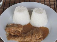 Rice and Fried Groundnut Soup with Fish