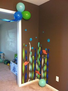 under the sea party decorations nice and easy Boys First Birthday Party Ideas, 1st Boy Birthday, 4th Birthday Parties, Under The Sea Party, Baby Shower, Birthday Decorations, Thing 1, Baby Shark, Birthdays