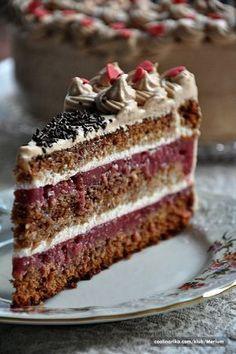 Ljubavna torta by -Violet-Love- — Coolinarika Torte Recepti, Kolaci I Torte, Bosnian Recipes, Croatian Recipes, Brze Torte, Baking Recipes, Cake Recipes, Torta Recipe, Torte Cake
