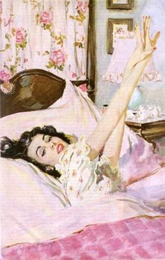 "❥ ""oh, darling, do I have to get out of bed...."""