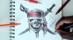 SKETCH SUNDAY 28 - How To Draw Pirates Of The Caribbean Logo - DeMoose Art