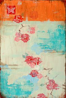 Have always liked orange and turquoise 2gether; and this shade of red and the cream really are great 2gether.