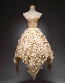 Wood veneer on bodice was cut with the eCraft.