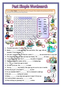 English Exercises: 3 exercises sentences) Past Simple regular verbs only Teach English To Kids, English Fun, English Lessons, English Language, Plurals Worksheets, Fun Worksheets, Basic Grammar, Teaching English Grammar, English Vocabulary