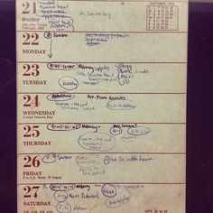 Plath's calendar page for October 1962.