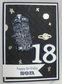Dr Who card for my son