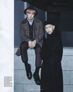 Hoseok et Namjoon pour Single Magazine 2017