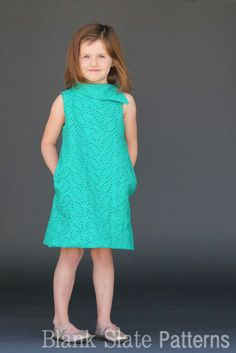 Fresh Bloom Frock Girls Dres PDF Sewing Pattern by Blank Slate Patterns.