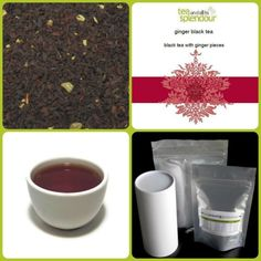 ginger black - Black tea base with ginger flavour and ginger root.