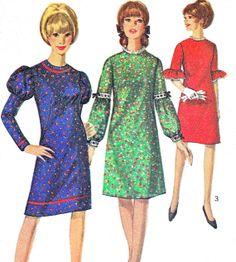 1960s Dress Pattern Simplicity 6718 Mod A Line by paneenjerez, $10.00